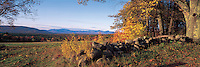 A fall day at a old farm on Moultonborough Neck, near Lake Winipesaukee, New Hampshire. Photograph by Peter E. Randall.