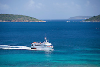 St. John ferry approaching Cruz Bay<br />