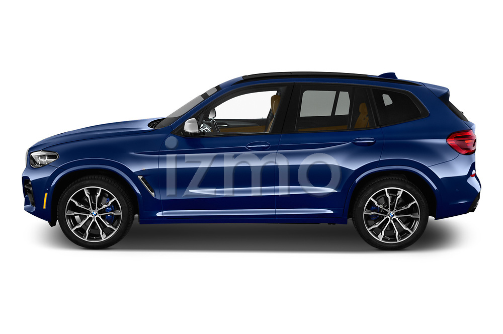 Car driver side profile view of a 2019 BMW X3 M40i 5 Door SUV