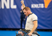 Amstelveen, Netherlands, 12  December, 2020, National Tennis Center, NTC, NKR, National   Indoor Wheelchair Tennis Championships, Men's single Final :  Winner Maikel Scheffers (NED)<br /> Photo: Henk Koster/tennisimages.com