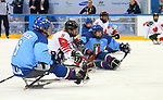 Pyeongchang, Korea, 11/3/2018-Adam Dixon of Canada plays Italy in hockey during the 2018 Paralympic Games in PyeongChang. Photo Scott Grant/Canadian Paralympic Committee.