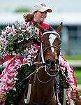 May 2, 2014: Untapable, ridden by Rosie Napravnik, wins the Kentucky Oaks on Kentucky Oaks Day at Churchill Downs in Louisville, KY. Scott Serio/ESW/CSM