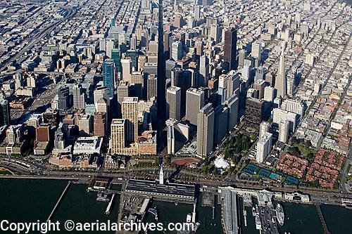 aerial photograph north waterfront Market Street San Francisco, California