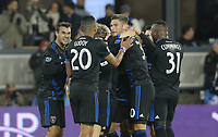 San Jose, CA - Saturday March 03, 2018: Valeri Qazaishvili celebrates his goal  during a 2018 Major League Soccer (MLS) match between the San Jose Earthquakes and Minnesota United FC at Avaya Stadium.