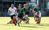 Saturday 26th September 2020 | Malone vs Ballynahinch<br /> <br /> Rhys O'Donnell races clear to score the fourth try for Ballynahinch during the Ulster Senior League fixture between Malone and Ballynahinch at Gibson Park, Belfast, Northern Ireland. Photo by John Dickson / Dicksondigital