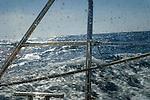 Sailing at sea, North Atlantic Ocean