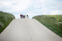 Front Group riding the hilly route. <br /> <br /> Circuit de Wallonie 2019<br /> One Day Race: Charleroi – Charleroi 192.2km (UCI 1.1.)<br /> Bingoal Cycling Cup 2019