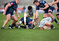 27th December 2020; AJ Bell Stadium, Salford, Lancashire, England; English Premiership Rugby, Sale Sharks versus Wasps;  Faf De Klerk (C) of Sale Sharks in the thick of it