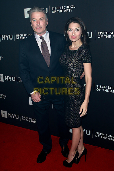 NEW YORK, NY - APRIL 3: Alec Baldwin and Hilaria Baldwin at NYU Tisch School of the Arts 2017 Gala at Cipriani 42nd Street on April 3, 2017 in New York City. <br /> CAP/MPI/DIE<br /> ©DIE/MPI/Capital Pictures
