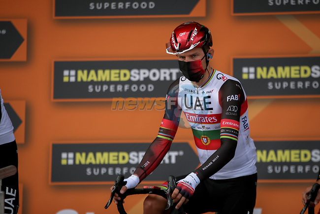 Rui Costa (POR) UAE Team Emirates at sign on before Stage 6 of Paris-Nice 2021, running 202.5km from Brignoles to Biot, France. 12th March 2021.<br /> Picture: ASO/Fabien Boukla | Cyclefile<br /> <br /> All photos usage must carry mandatory copyright credit (© Cyclefile | ASO/Fabien Boukla)