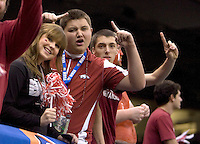 Arkansas fans celebrates during 77th Annual Allstate Sugar Bowl Classic at Louisiana Superdome in New Orleans, Louisiana on January 4th, 2011.  Ohio State defeated Arkansas, 31-26.