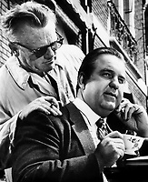 James Cagney and Jacques Aubuchon (R) in SHORT CUT TO HELL