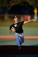 Wyatt Crowell during the WWBA World Championship at the Roger Dean Complex on October 20, 2018 in Jupiter, Florida.  Wyatt Crowell is a left handed pitcher from Cumming, Georgia who attends West Forsyth High School and is committed to Florida State.  (Mike Janes/Four Seam Images)