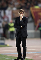 Football Soccer: UEFA Champions League AS Roma vs Chelsea Stadio Olimpico Rome, Italy, October 31, 2017. <br /> Chelsea's coach Antonio Conte looks on during the Uefa Champions League football soccer match between AS Roma and Chelsea at Rome's Olympic stadium, October 31, 2017.<br /> UPDATE IMAGES PRESS/Isabella Bonotto