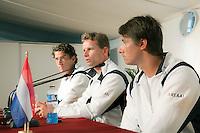7-3-09,Argentina, Buenos Aires, Daviscup  Argentina-Netherlands, De teleurstelling straalt van de spelers af op de afsluitende persconferentie