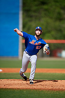 New York Mets pitcher Chris Viall (97) during a Minor League Spring Training intrasquad game on March 29, 2018 at the First Data Field Complex in St. Lucie, Florida.  (Mike Janes/Four Seam Images)