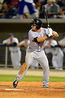 Jacksonville Suns third baseman Zack Cox #40 during a game against the Pensacola Blue Wahoos on April 15, 2013 at Pensacola Bayfront Stadium in Pensacola, Florida.  Jacksonville defeated Pensacola 1-0 in 11 innings.  (Mike Janes/Four Seam Images)