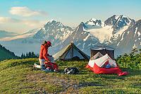 Tent camp in the Chugach National Forest, Kenai Peninsula, Alaska.