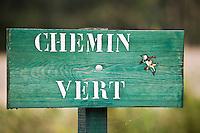Europe/France/Picardie/80/Somme/Baie de Somme: Panneau d'un chemin vert dans la réserve anturelle