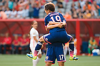 June 23, 2015: Saori ARIYOSHI of Japan celebrates her goal during a round of 16 match between Japan and Netherlands at the FIFA Women's World Cup Canada 2015 at BC Place Stadium on 23 June 2015 in Vancouver, Canada. Japan won 2-1. Sydney Low/AsteriskImages.com