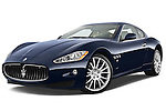 Low aggressive front three quarter view of a 2010 Maserati Granturismo S Automatic Coupe