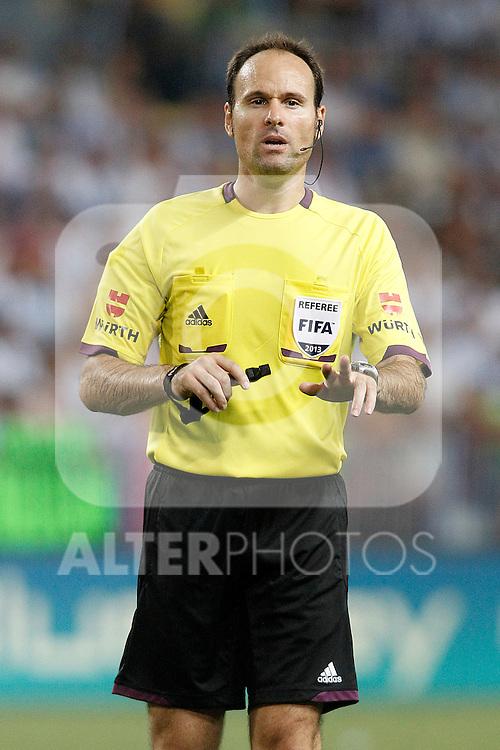 Spanish referee Antonio Miguel Mateu Lahoz during La Liga match.August 25,2013. (ALTERPHOTOS/Acero)