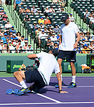 March 31 2018: Bob & Mike Brian (USA) defeats Karen Khachanov & Andrey Rublev (RUS) by 4-6, 7-6 (5), 10-4, at the Miami Open being played at Crandon Park Tennis Center in Miami, Key Biscayne, Florida. ©Karla Kinne/Tennisclix/CSM