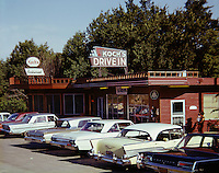 Koch's Drive In Restaurant with a line of cars out front