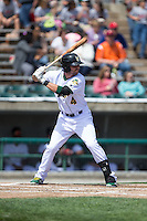 Paul Hendrix (4) of the Lynchburg Hillcats at bat against the Frederick Keys at Calvin Falwell Field at Lynchburg City Stadium on May 14, 2015 in Lynchburg, Virginia.  The Hillcats defeated the Keys 6-3.  (Brian Westerholt/Four Seam Images)