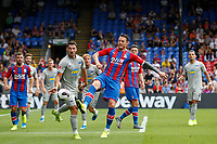 Matthew Leckie of Hertha Berlin and Conor Wickham of Crystal Palace 'during the pre season friendly match between Crystal Palace and Hertha BSC at Selhurst Park, London, England on 3 August 2019. Photo by Carlton Myrie / PRiME Media Images.