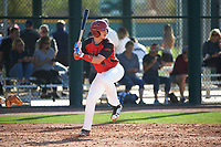 Dakotah Danner (4) of Montgomery Central High School in Cunningham, Tennessee during the Baseball Factory All-America Pre-Season Tournament, powered by Under Armour, on January 14, 2018 at Sloan Park Complex in Mesa, Arizona.  (Art Foxall/Four Seam Images)