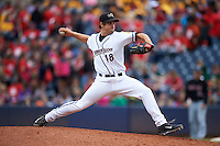 Akron RubberDucks pitcher Jeff Johnson (48) delivers a pitch during a game against the New Britain Rock Cats on May 21, 2015 at Canal Park in Akron, Ohio.  Akron defeated New Britain 4-2.  (Mike Janes/Four Seam Images)