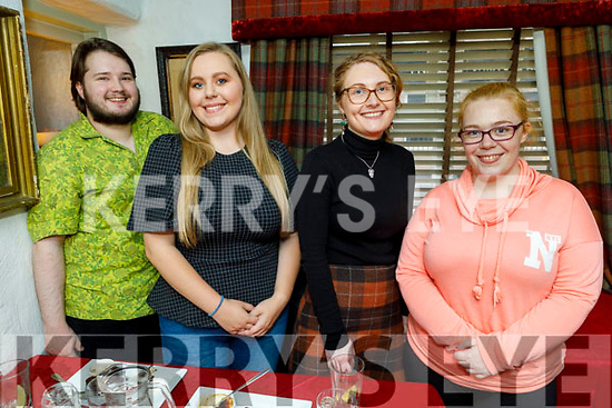 Shane Commane, Laura Carroll, Leanne O'Connor Desmond and Caitlin Lyons enjoying the evening in Cassidys on Saturday.