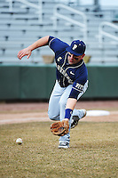 Pittsburgh Panthers infielder Sam Parente (19) during game against the St. John's Redstorm at Jack Kaiser Stadium on March 22, 2013 in Queens, New York.  Pittsburgh defeated St. John's 12-9.  (Tomasso DeRosa/Four Seam Images)