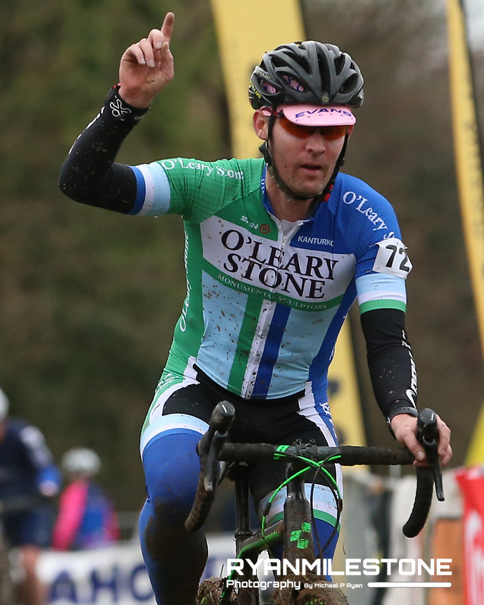 EVENT:<br /> Round 5 of the 2019 Munster CX League<br /> Drombane Cross<br /> Sunday 1st December 2019,<br /> Drombane, Co Tipperary<br /> <br /> CAPTION:<br /> Daniel Lynch of O'Leary Stone Kanturk on his way to winning the B Race<br /> <br /> Photo By: Michael P Ryan