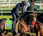 April 27, 2021: Hot Rod Charlie, trained by trainer Doug O'Neill, exercises in preparation for the Kentucky Derby at Churchill Downs on April 27, 2021 in Louisville, Kentucky. Scott Serio/Eclipse Sportswire/CSM