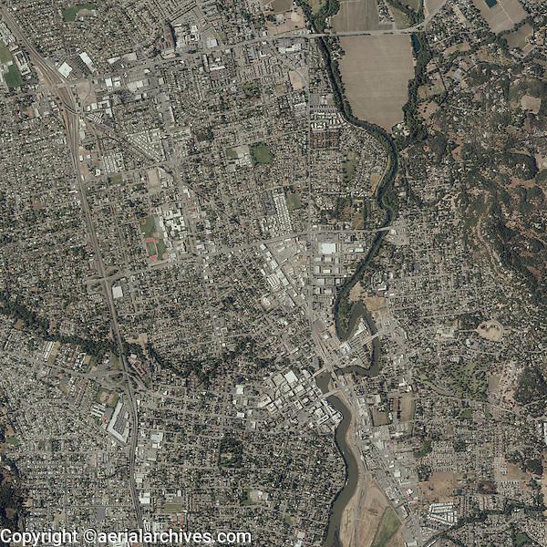 aerial photo map City of Napa, Napa County, California