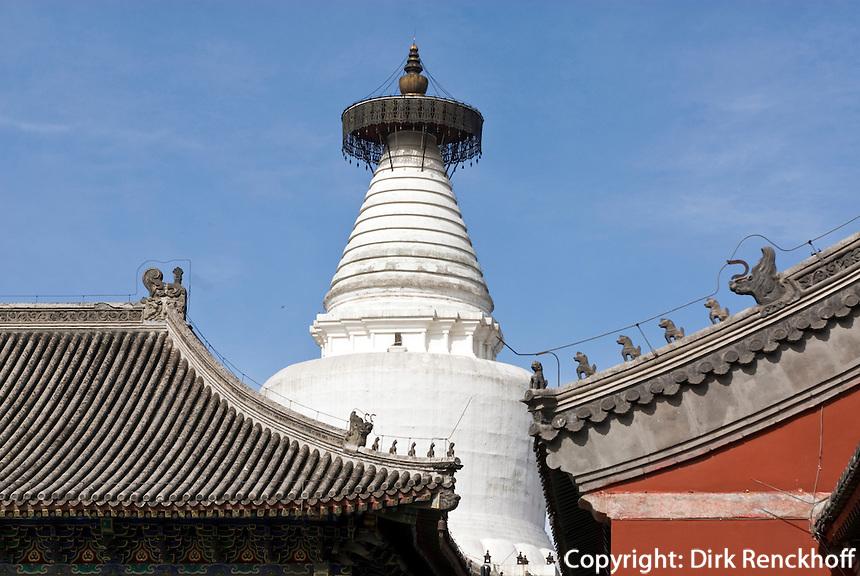China, Peking (Beijing), buddhistischer Tempel Baita Si auf der Fuchengmennai Dajie