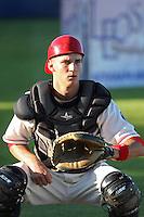 Spokane Indians catcher Kellin Deglan #22 before a game vs.the Eugene Emeralds at Avista Stadium in Spokane, Washington, on August 20, 2010. Photo By Robert Gurganus/Four Seam Images