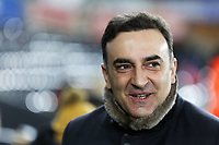 Swansea manager Carlos Carvalhal arrives prior to the game during The Emirates FA Cup Fifth Round Replay match between Swansea City and Sheffield Wednesday at the Liberty Stadium, Swansea, Wales, UK. Tuesday 27 February 2018
