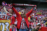 16th May 2018, Stade de Lyon, Lyon, France; Europa League football final, Marseille versus Atletico Madrid; Atletico Madrid fan chanting inside Groupama Stadium