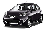Front three quarter view of a 2013 - 2014 Nissan MICRA 5 Door Hatchback 2WD