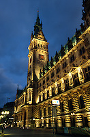 Rathaus in Hamburg, Deutschland
