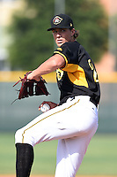 Bradenton Marauders pitcher Tyler Glasnow (24) poses for a photo before a game against the Jupiter Hammerheads on June 25, 2014 at McKechnie Field in Bradenton, Florida.  Bradenton defeated Jupiter 11-0.  (Mike Janes/Four Seam Images)