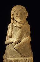 Europe/France/Auvergne/12/Aveyron/Rodez: Le musée Fenaille - Statue d'une divinité celtique IIème siècle avant J-C