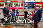 Members of the Kerry Cycling Campaign standing at the newly erected bike stand in Rock St.  Front right: Anluan Dunne.<br /> Back l to r: Lawerence Dunne and Marguerite Egan, Arthur and Iseult Brick Dunne and Keith Phelan.