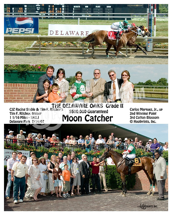 Moon Catcher wining The grade 2 2007 Delaware Oaks<br /> to see more versions of this search:  Moon Catcher, winphoto, Special Request