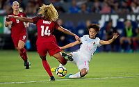 Carson, CA - Thursday August 03, 2017: Casey Short, Mina Tanaka during a 2017 Tournament of Nations match between the women's national teams of the United States (USA) and Japan (JAP) at StubHub Center.