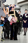 Lady Gaga takes pictures with fans upon her arrival at Narita International Airport on November 1, 2016, Chiba, Japan. Gaga returns to Japan for the first time in two years to promote her latest album Joanne. (Photo by Rodrigo Reyes Marin/AFLO)