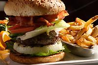 Montreal QC CANADA - 2008 file Photo -hamburger and french fries
